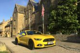 Mustang 5.0 GT Auto in Triple Yellow with Factory Viper Stripes – Available NOW!